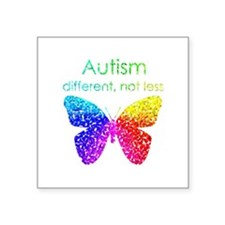 Autism Butterfly, different, not less Sticker