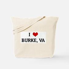 I Love BURKE, VA Tote Bag