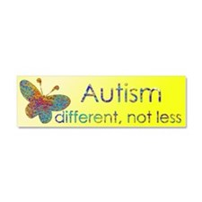 Autism Butterfly Car Magnet 10 x 3