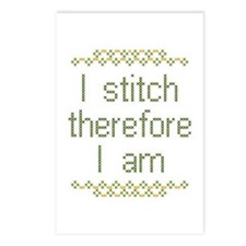I Stitch Therefore I Am Postcards (Pkg of 8)