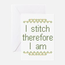 I Stitch Therefore I Am Greeting Cards (Pk of 10)