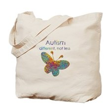Autism: different, not less Tote Bag