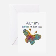 Autism: different, not less Greeting Card