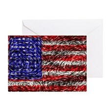 Van Gogh's Flag of the US Greeting Card