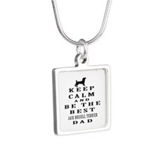 Jack Russell Terrier Dad Designs Silver Square Nec