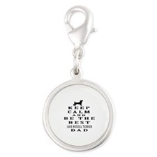 Jack Russell Terrier Dad Designs Silver Round Char