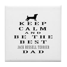 Jack Russell Terrier Dad Designs Tile Coaster