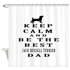 Jack Russell Terrier Dad Designs Shower Curtain