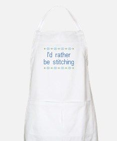 I'd Rather Be Stitching BBQ Apron