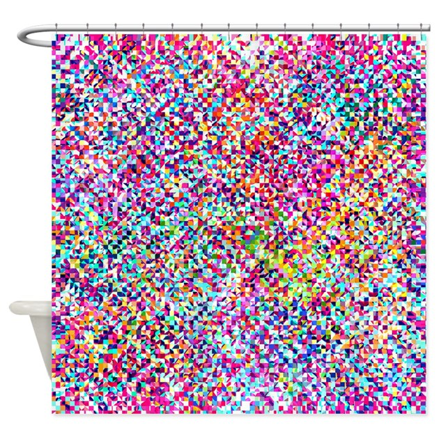 Mix 421 Colourful Shower Curtain By Ornaartzi
