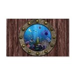 Underwater Love Porthole 20x12 Wall Decal