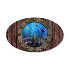 Underwater Love Porthole Wall Decal