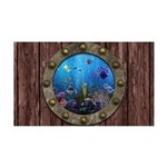 Underwater Love Porthole 35x21 Wall Decal