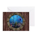 Underwater Love Porthole Greeting Card