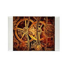 Steampunk Gears Rectangle Magnet