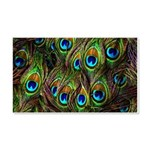 Peacock Feathers Invasion 20x12 Wall Decal