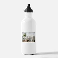 Gate of Belen Mexico - 1848 Water Bottle