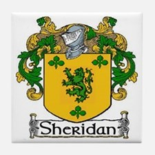 Sheridan Coat of Arms Tile Coaster