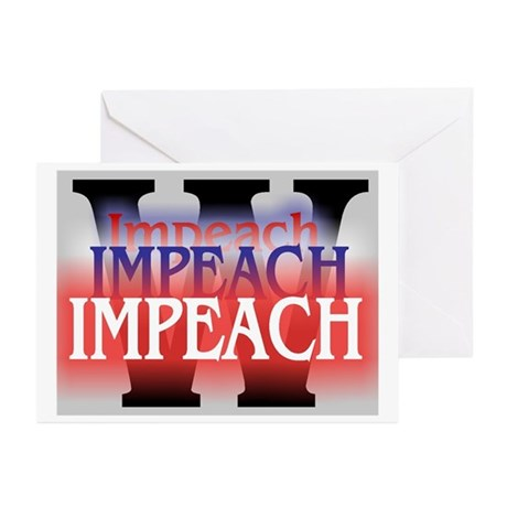 Impeach 3 X Greeting Cards (Pk of 10)