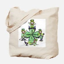 Leprechauns Hanging Out Tote Bag