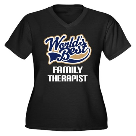 Worlds Best Family Therapist Plus Size T-Shirt