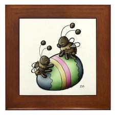 Teeter on the Easter Egg Framed Tile