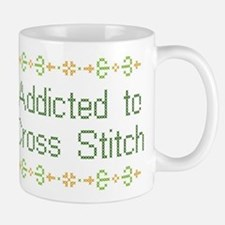 Addicted to Cross Stitch Mug