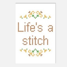 Life's a Stitch Postcards (Package of 8)