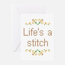 Life's a Stitch Greeting Cards (Pk of 10)
