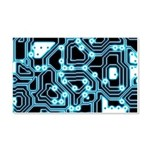ElecTRON - Blue/Black 20x12 Wall Decal