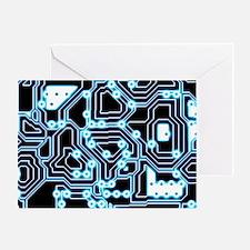 ElecTRON - Blue/Black Greeting Card