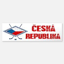 Czech Ice Hockey Flag Bumper Bumper Bumper Sticker