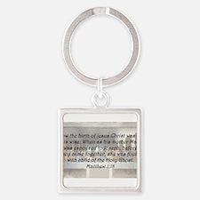 Matthew 1:18 Keychains