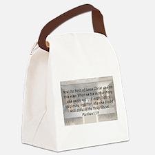 Matthew 1:18 Canvas Lunch Bag