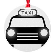 Cartoon Taxi Cab Ornament