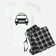 Cartoon Taxi Cab Pajamas