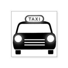 Cartoon Taxi Cab Sticker