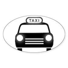 Cartoon Taxi Cab Decal