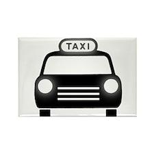 Cartoon Taxi Cab Rectangle Magnet