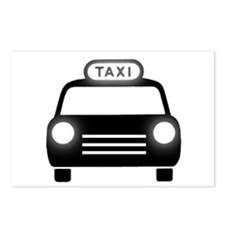 Cartoon Taxi Cab Postcards (Package of 8)