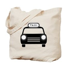 Cartoon Taxi Cab Tote Bag