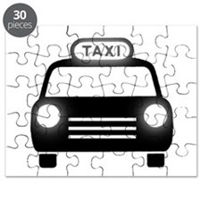 Cartoon Taxi Cab Puzzle