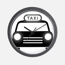 Cartoon Taxi Cab Wall Clock