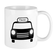 Cartoon Taxi Cab Mug