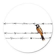 Bird on a Wire Round Car Magnet