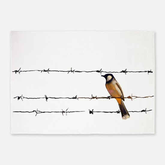 Bird on a Wire 5'x7'Area Rug