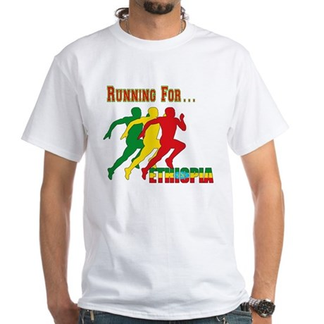 Ethiopia Running White T-Shirt