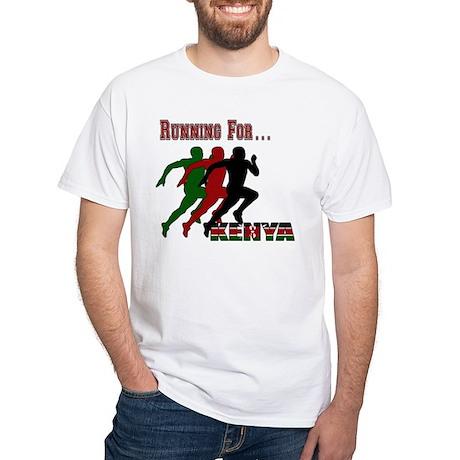 Kenya Running White T-Shirt