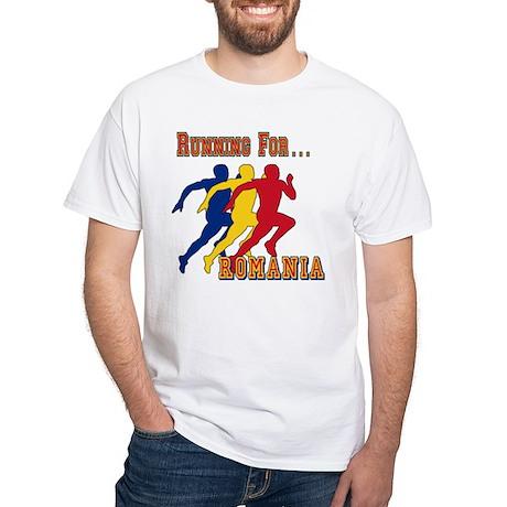 Romania Running White T-Shirt