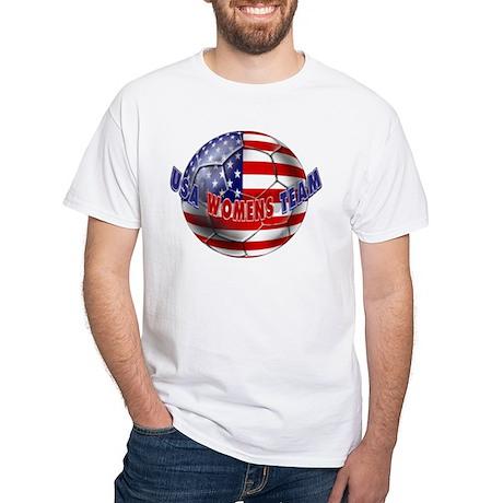 US Womens Soccer White T-Shirt